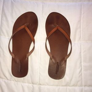 American Eagle Outfitters Brown Flip Flops size 10